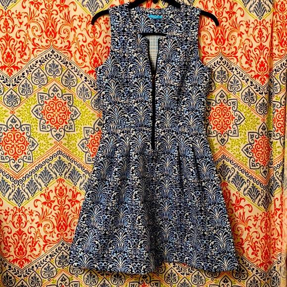 Blue J. McLaughlin dress with Zipper Front